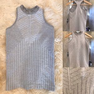 Athleta Gray Ribbed Racerback